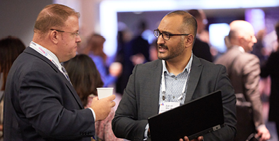 Business men networking with MedTech Connect